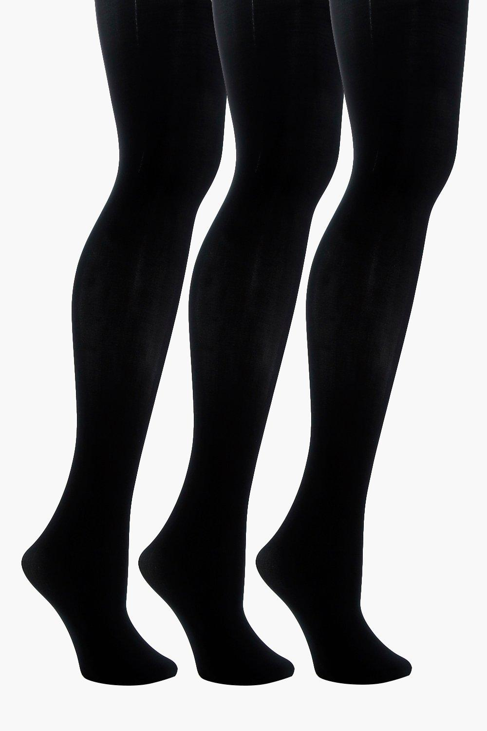 Shania 3 Pack Microfibre Tights - woven-trends