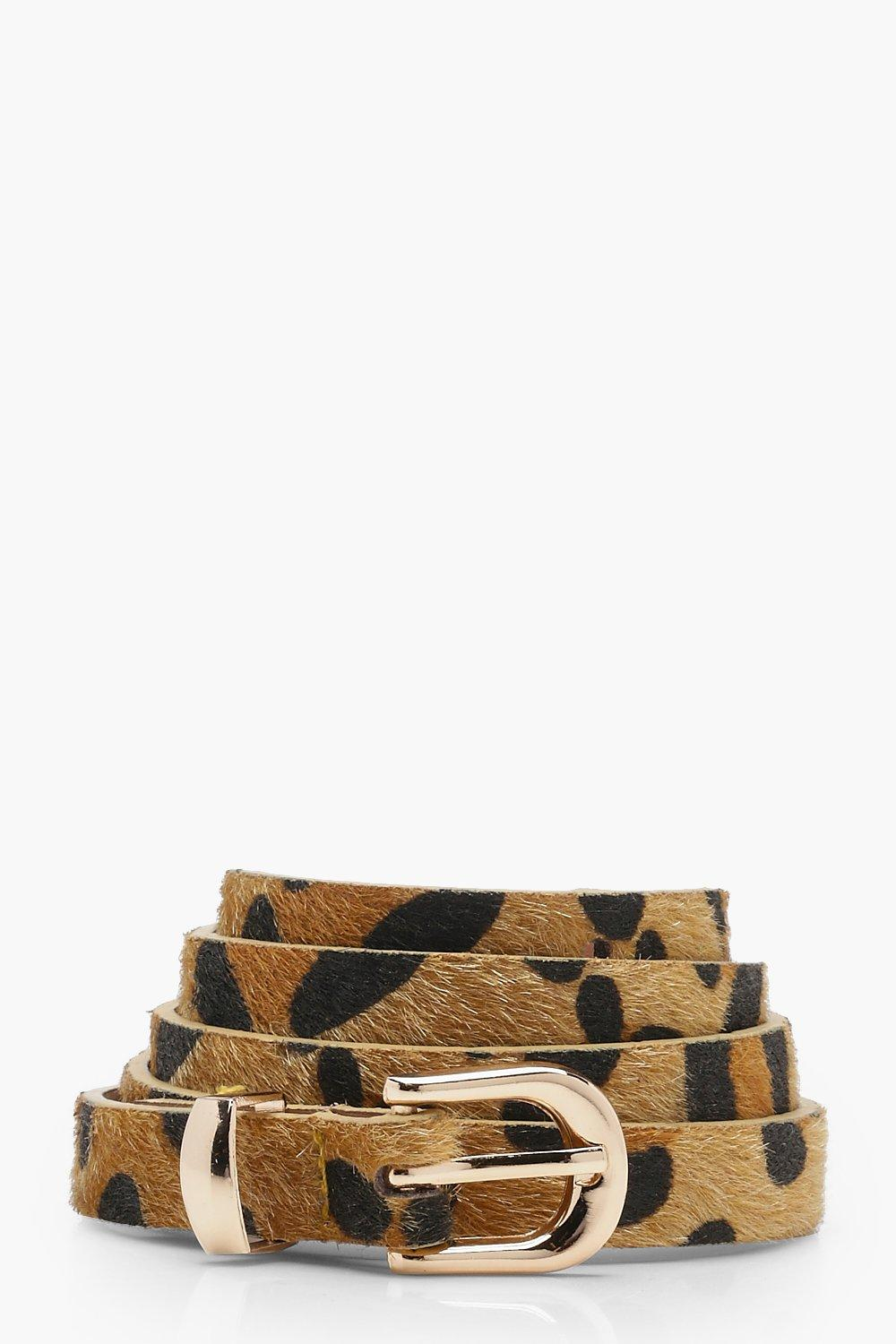 Two Pack Leopard and Suede Mix Belt - woven-trends