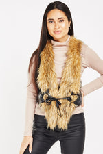 Katie Faux Fur Belt Detailed Gilet