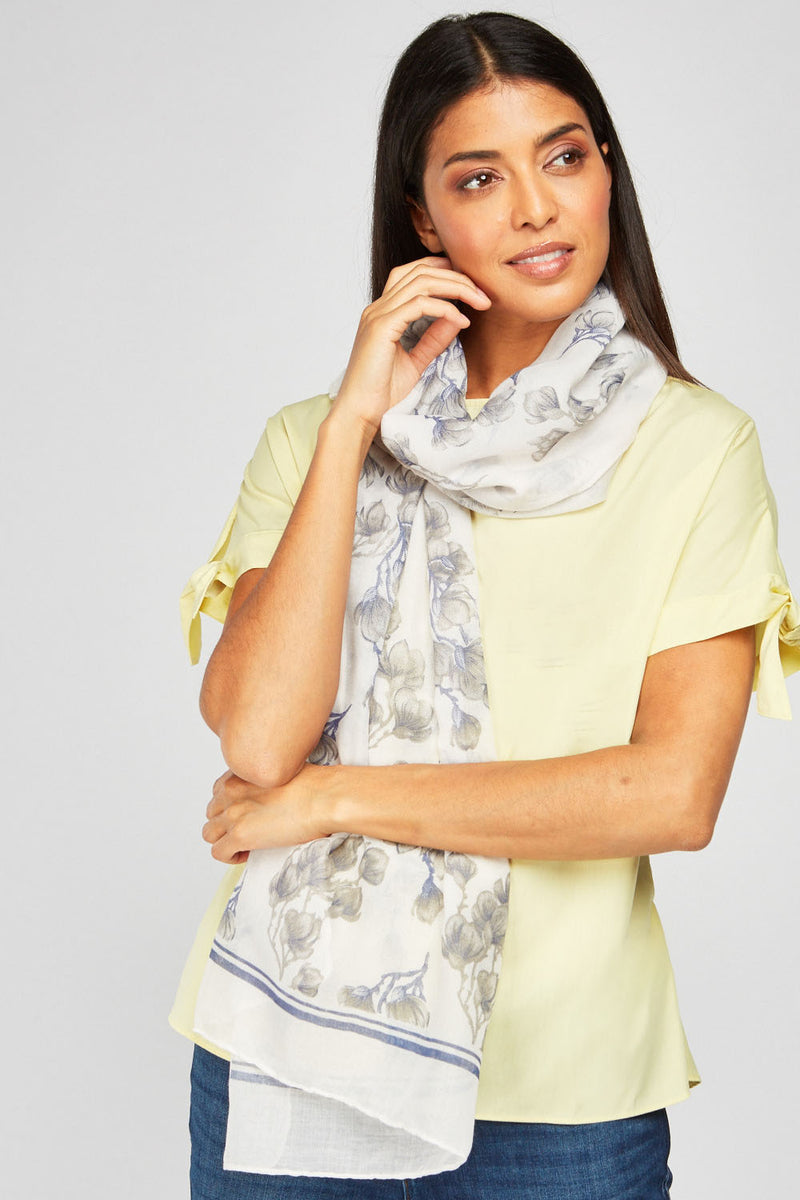 Irene Floral Print Soft Scarf - Woven Trends