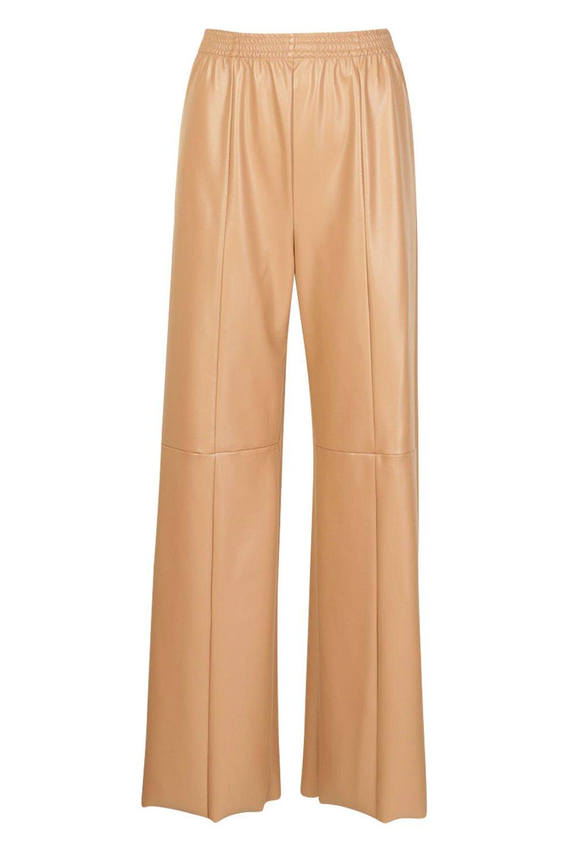 Kattie Wide Leg Seam Leather Look Vinyl Trousers - Woven Trends