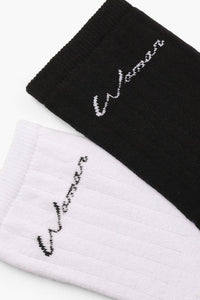 Two Pack Woman Slogan Socks - Woven Trends