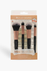 Emily 4 Piece Travel Makeup Brush Set - Woven Trends