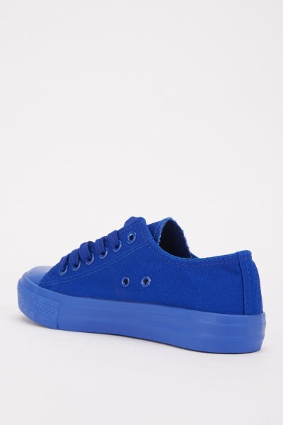 Plain Low Top Canvas Trainers