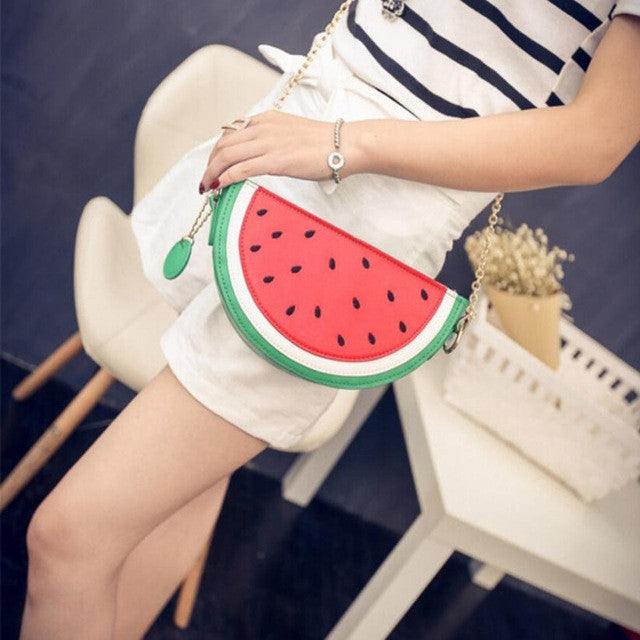 Fruity Detail Pouch Shoulder Bag Woven Trends