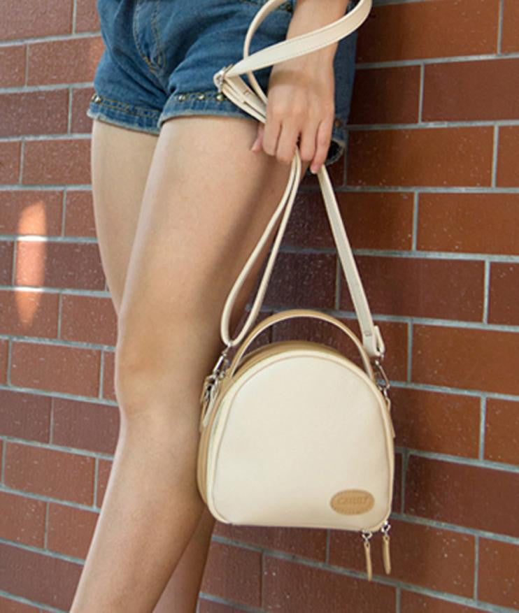 Cute Shell Leather Shoulder Bag - Strap Shoulder Ladies Handbag Bags - Woven Trends Fashion Collection