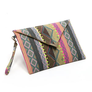 Evening or Day Clutch Bag - Envelope Clutch Handbag Purse Woven Trends