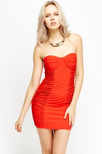 Afia Mini Styled Bandeau Dress - Woven Trends