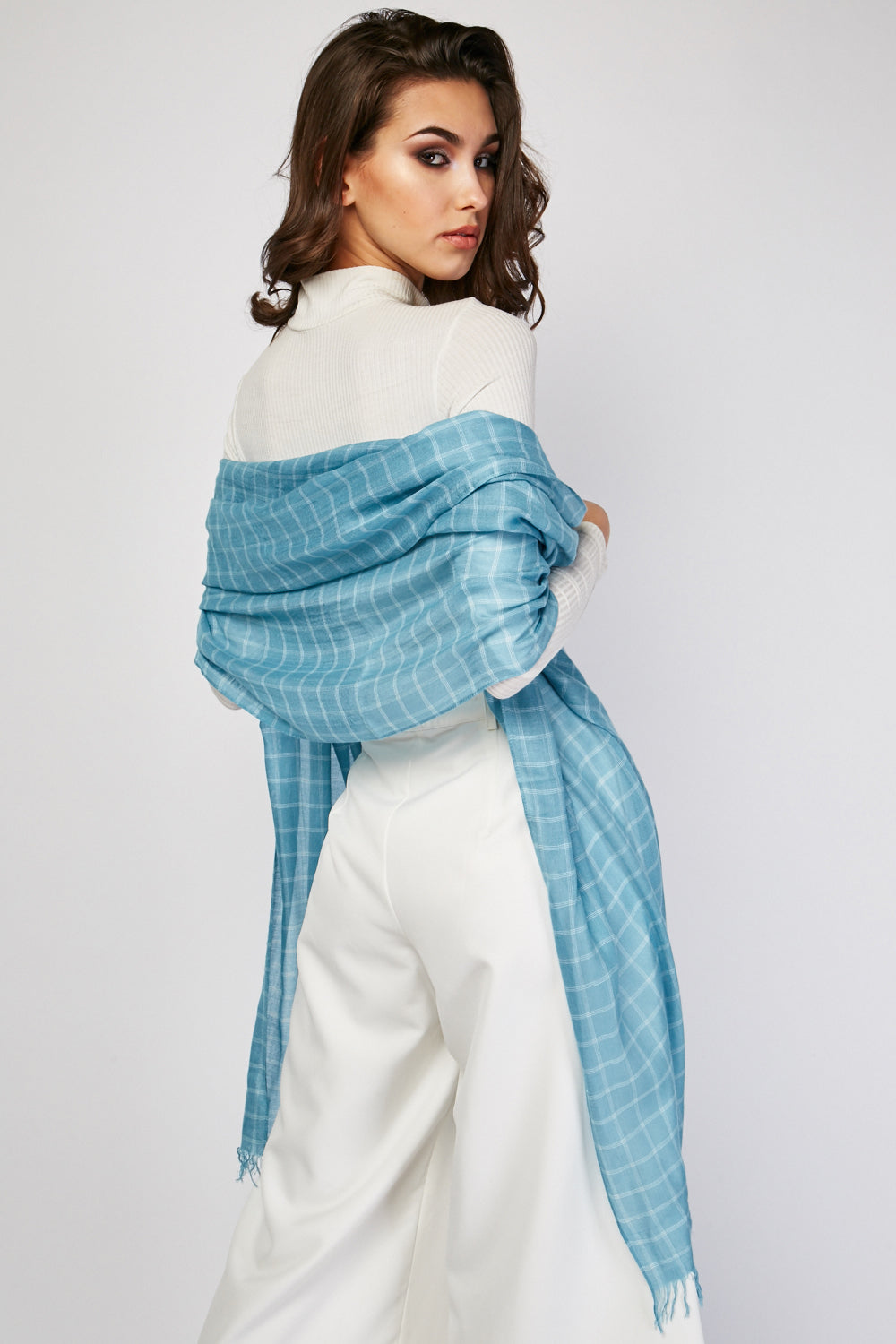 Rosa Raw Edge Light Viscose Scarf-Woven Trends