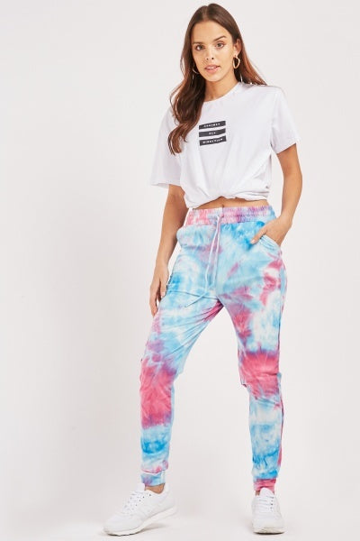Tessa Tie and Dye Jogger Pants-Woven Trends