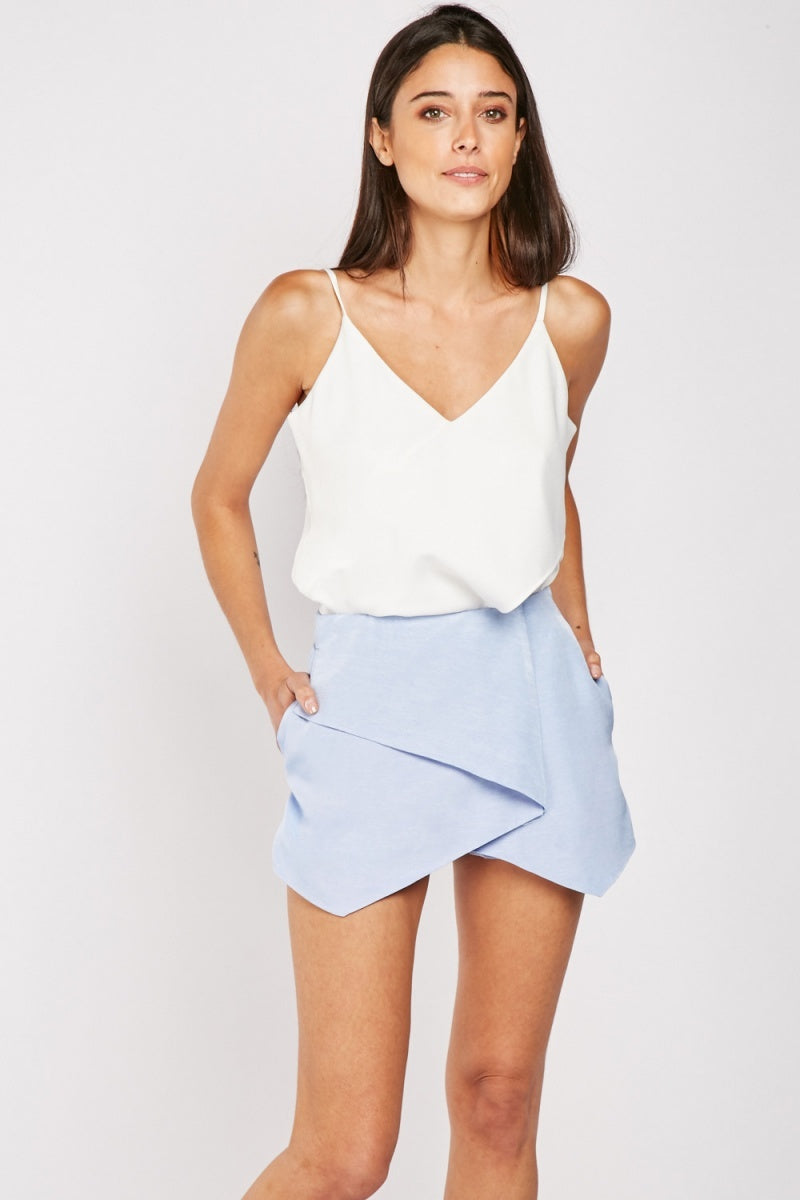Kayleigh Wrap Style Skort-Woven Trends
