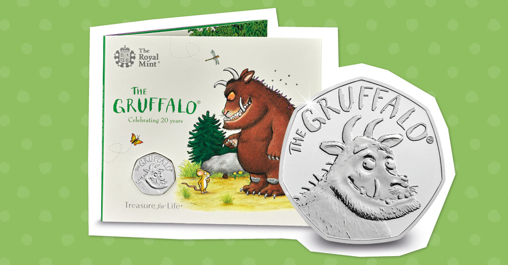 JUST RELEASED: the brand NEW UK Gruffalo 50p coin that collectors cannot wait to get their hands on!