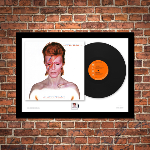 The Aladdin Sane Vinyl and Stamp Framed Presentation