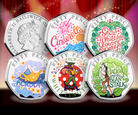 The Signed Panto Silver 50p Capsule Edition Set - Collectology
