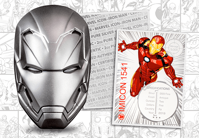 Marvel Icon 2oz Silver Iron Man Coin - Collectology