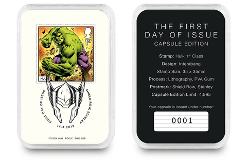 First Day of Issue Capsule Edition - Hulk Stamp - Collectology