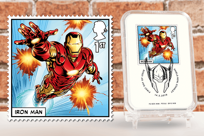 First Day of Issue Capsule Edition - Iron Man Stamp - Collectology