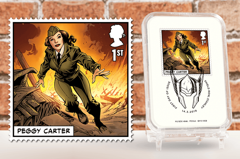 First Day of Issue Capsule Edition - Peggy Carter Stamp - Collectology