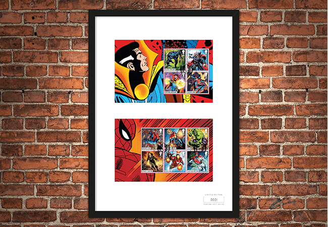 The Framed Edition featuring the Marvel Stamps and Thor Postmark - Collectology