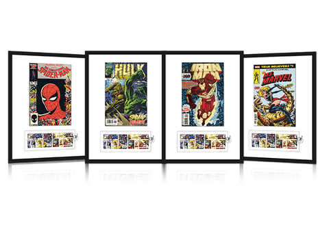 The Ultimate Framed Edition featuring the Marvel Stamps - Collectology