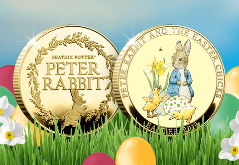 The Peter Rabbit and the Easter Chicks Gold-plated Medal - Collectology