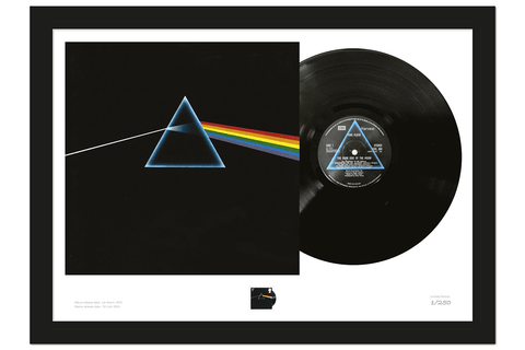 The Dark Side of the Moon Stamp and Vinyl Presentation Frame - Collectology