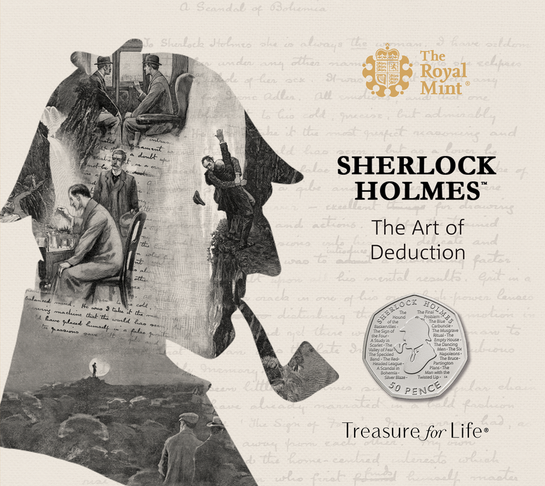 The Sherlock Holmes 50p BU pack - Collectology