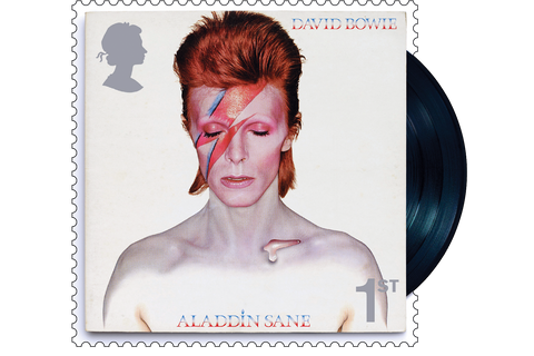 The Aladdin Sane Stamp and Vinyl Presentation Frame - Collectology