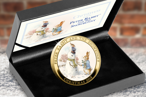 Peter Rabbit and the Snowbunny Gold-plated Medal - Collectology
