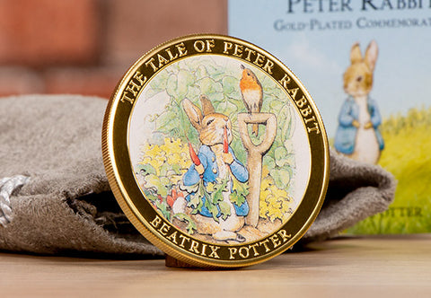 The Tale of Peter Rabbit Gold-Plated Commemorative - Collectology