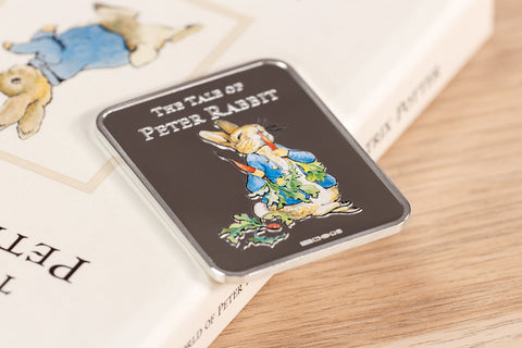 The Tale of Peter Rabbit Silver Ingot Book - Collectology