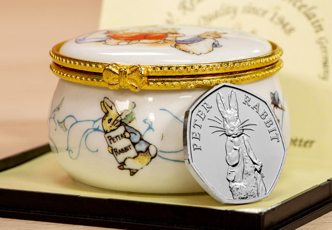 The 2019 Peter Rabbit 50p Trinket Box Edition - Collectology