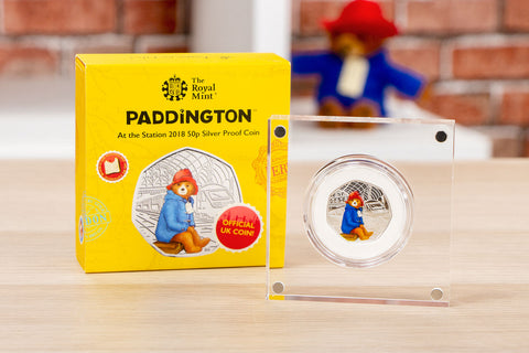 The UK 2018 Paddington at the Station Silver Proof 50p Coin - Collectology