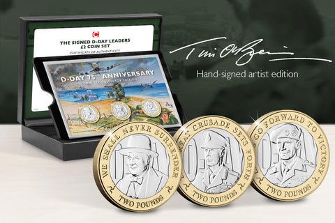 The Signed D-Day Leaders £2 Capsule Edition - Collectology