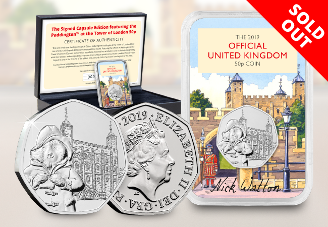 The Signed Capsule Edition featuring the Paddington at the Tower 50p - Collectology