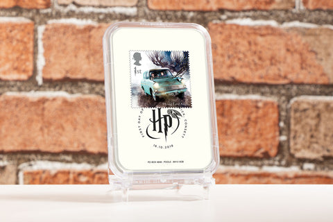 The First Day of Issue Capsule Edition - Flying Ford Anglia Stamp - Collectology