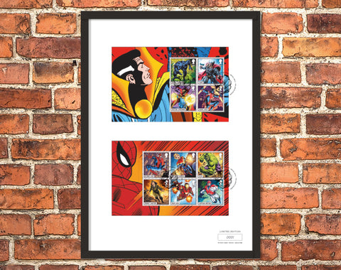 The Framed Edition featuring the Marvel Stamps and Hulk Postmark - Collectology