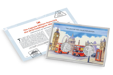 The Capsule Edition featuring the 2018 Paddington 50p coins - Collectology