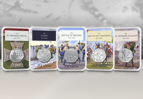 50 Years of the 50p Signed Military Capsule Edition Set - Collectology