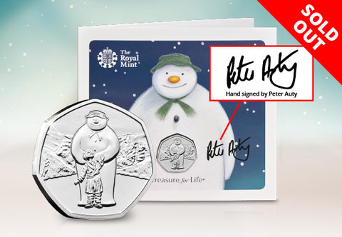 The 2019 Snowman 50p BU Pack Signed by Walking in the Air Singer