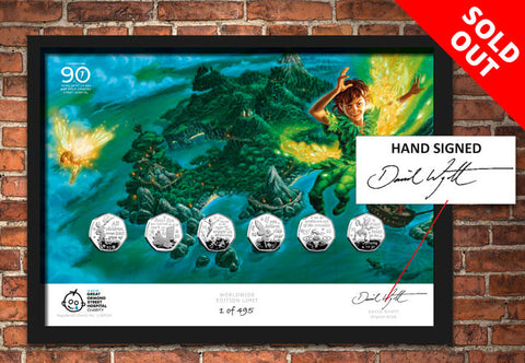 The Hand-Signed Peter Pan 50p Framed Edition