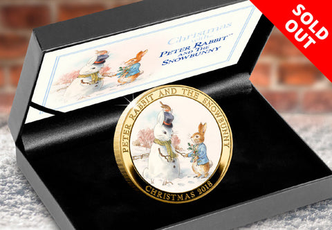 Peter Rabbit and the Snowbunny Gold-plated Medal