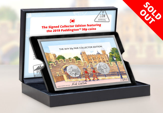 The Signed Collector's Edition featuring the 2019 Paddington 50p coins