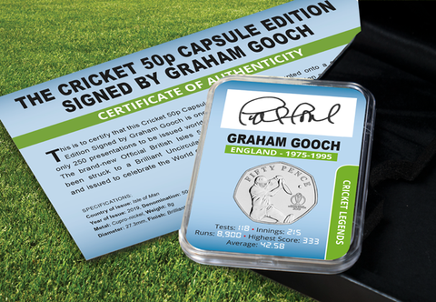 The Goochy Signed Cricket 50p - Collectology