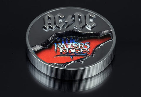 The 2oz Silver AC/DC Razors Edge Coin