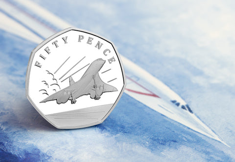 The Concorde 50th Anniversary Silver Proof 50p