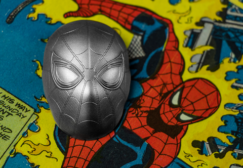 The Spider-Man Mask 2oz Silver Coin - Collectology