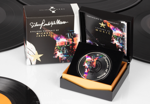 The 1oz Silver Michael Jackson Vinyl Coin - Collectology