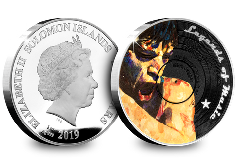 The 1oz Silver Mick Jagger Vinyl Coin - Collectology