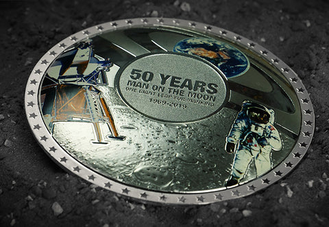 The Moon Landing Plateau Minted Coin - Collectology